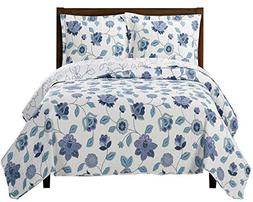 Sheetsnthings King/CalKing Miranda Solid With Spring Floral