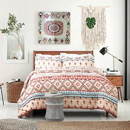 King Size Comforter Set Boho Design Down Alternative 3 Piece