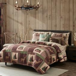 king queen or twin quilt set rustic