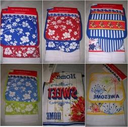 kitchen 3 piece cotton set oven mitt