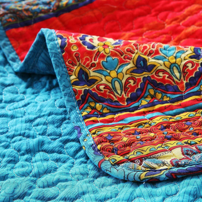 Exclusivo Mezcla Cotton 3-Piece Size Quilt Set/Bedspread