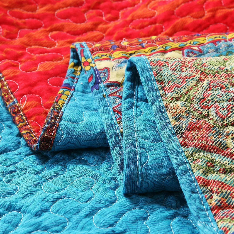 Exclusivo 3-Piece Paisley Boho Size Quilt Set/Bedspread