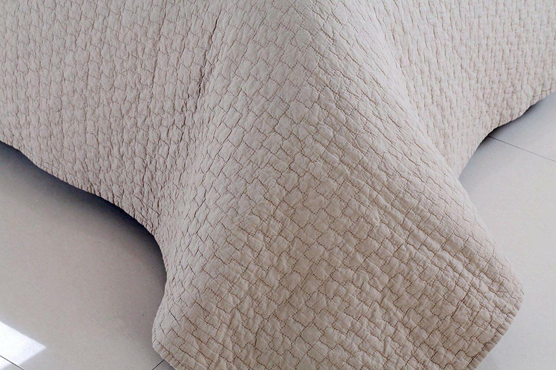 100% Quilt Bedspread Bed Gray