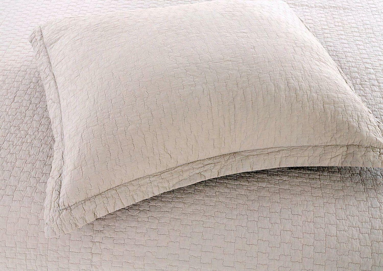 100% Cotton Set Bedspread Bed Coverlet, Gray Checks