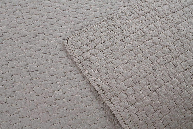 100% Cotton Set Bedspread Lightweight Gray