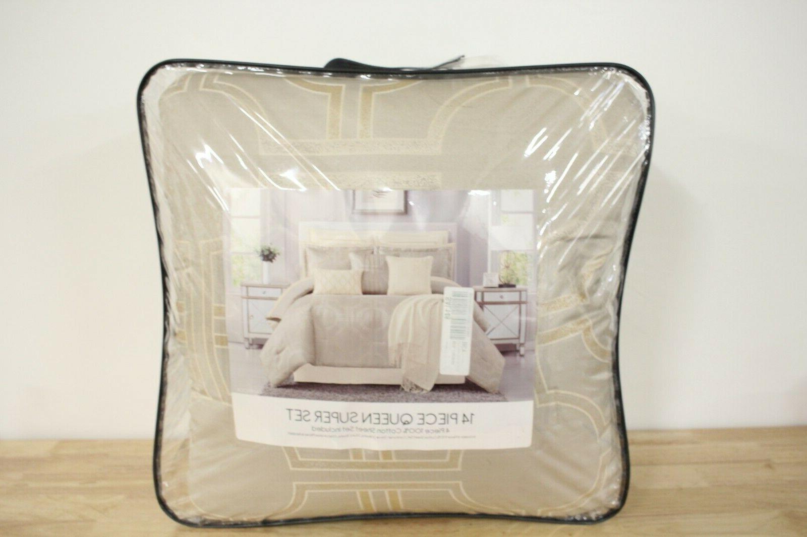 Pem Queen Comforter Silver T97292