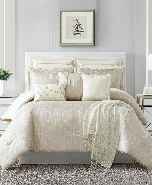 14 pice queen comforter set saybrook silver