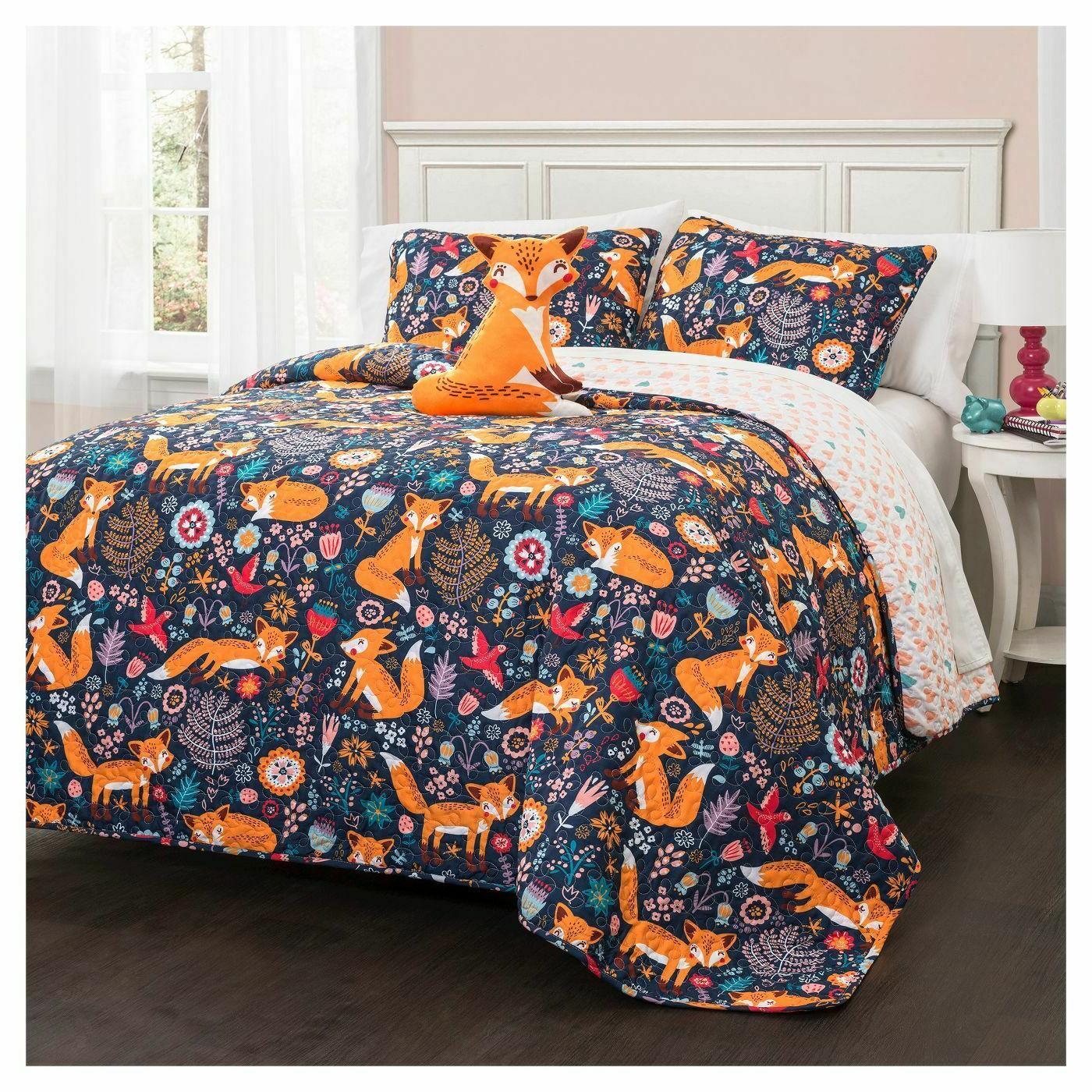 16t000549 pixie fox quilt set