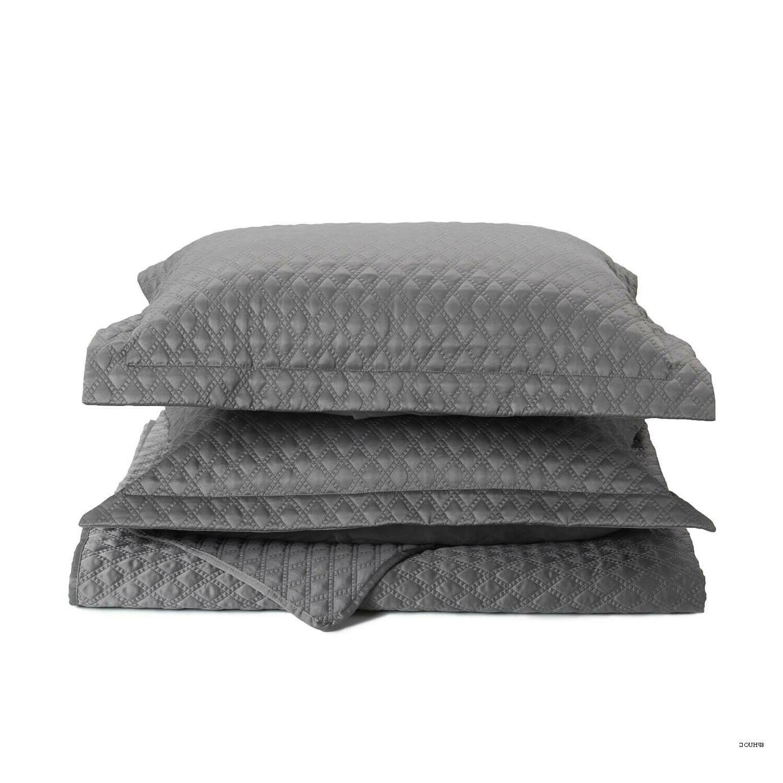 Bedsure 2-Piece Bedding Quilt Set Grey Twin Size