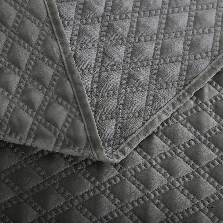 Bedsure 2-Piece Set Charcoal Size Bedspread