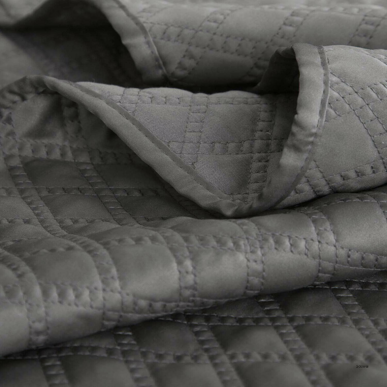 Bedsure 2-Piece Bedding Set Grey Charcoal Size 68x86