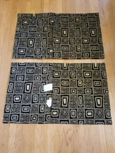 2 Pillow Theme Print Tan NEW