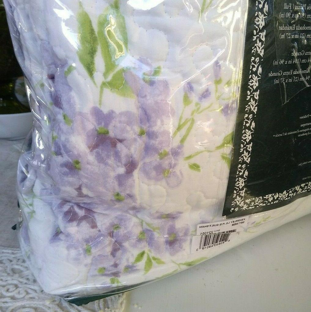 LAURA Quilt QUEEN 3PC FLORAL lavender