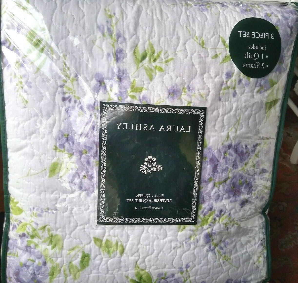 LAURA Quilt and QUEEN FLORAL lavender