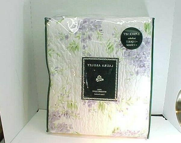 Laura Ashley 221050 Keighley Lilac Quilt Set,Lilac,Twin
