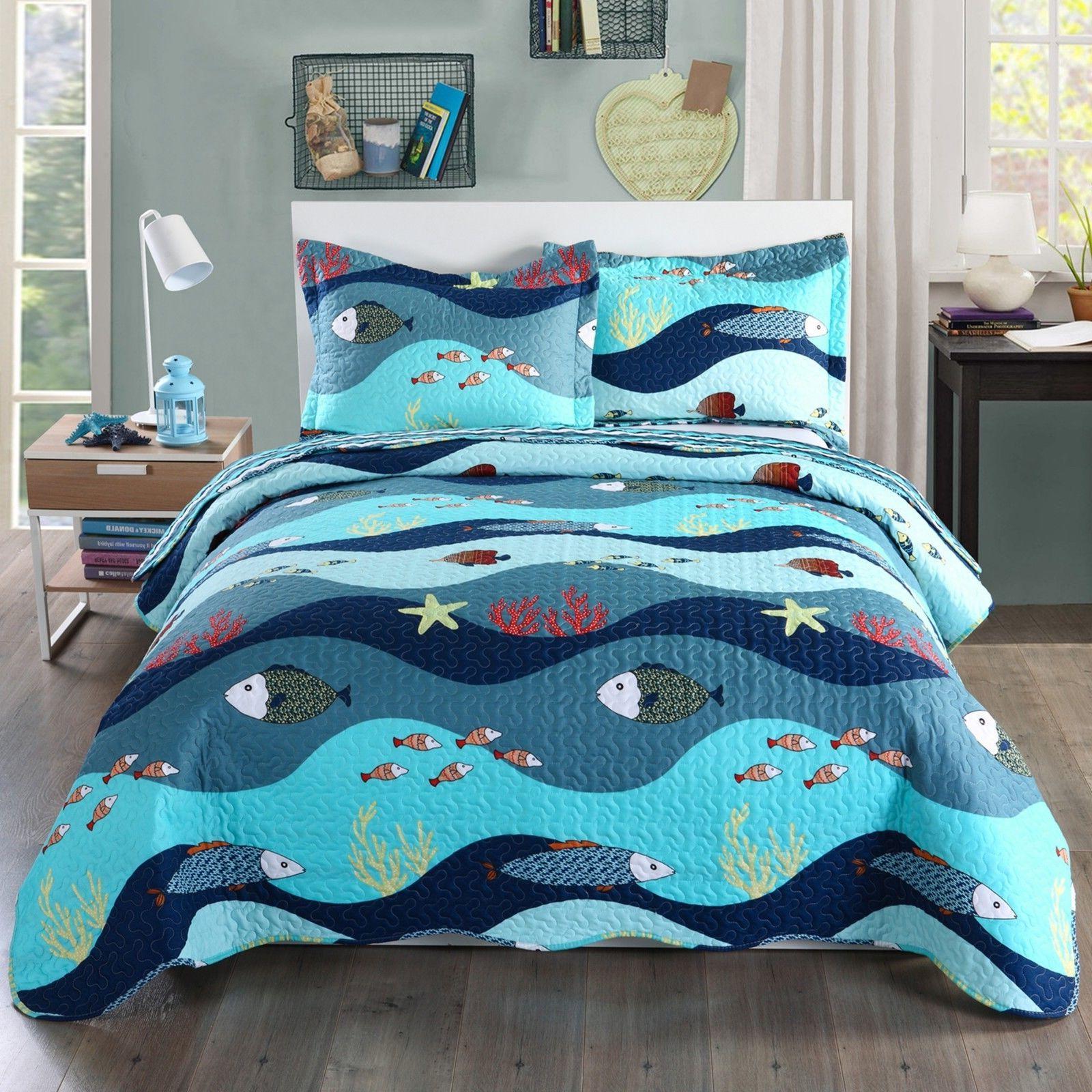 2pcs Kids Comforter Throw for Boys Girls