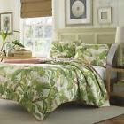 3-pc ☆ TROPICAL PALM FLORAL ☆ Full/Queen Quilt Set TOMMY