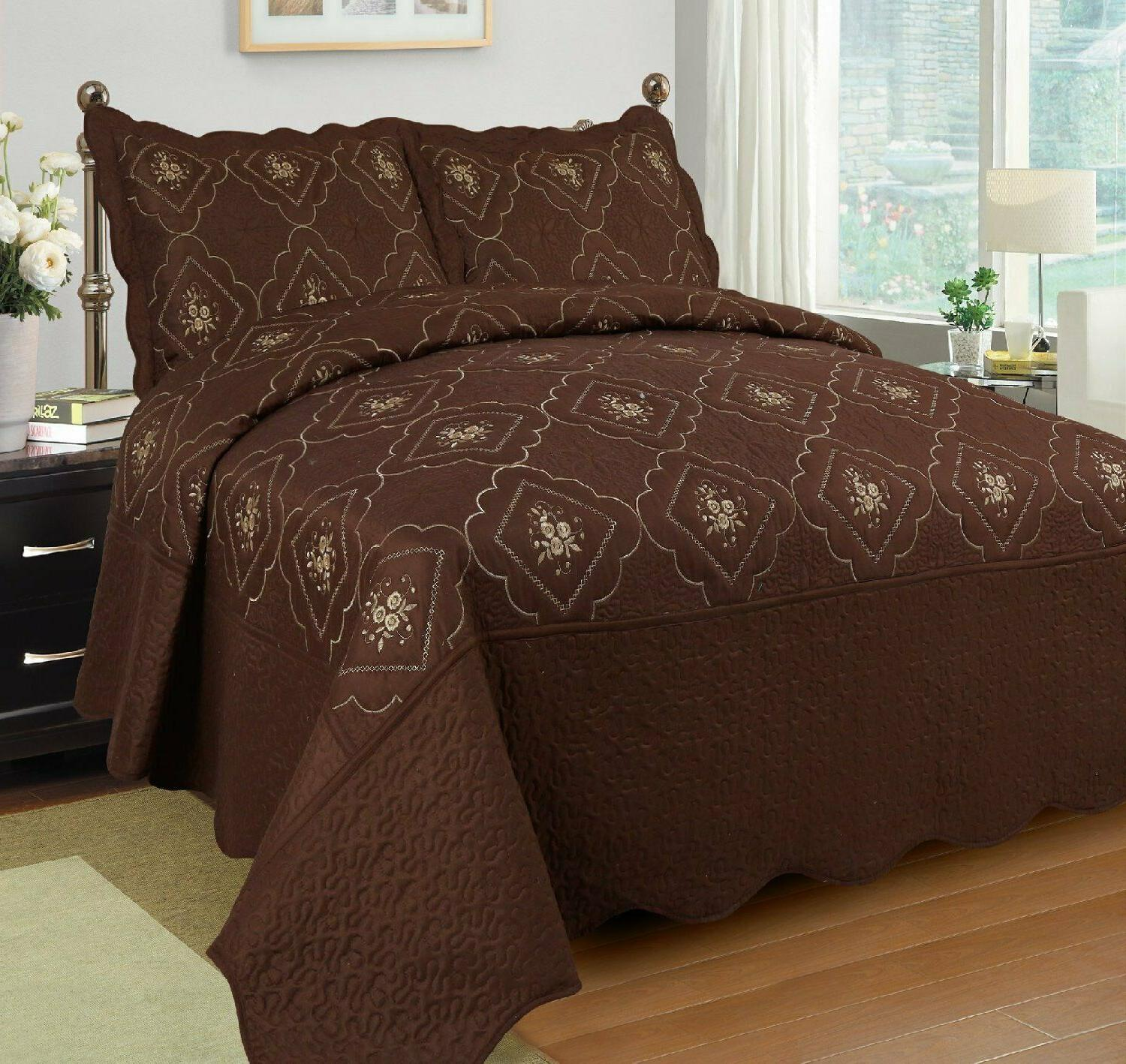 3 Pcs Quilted Coverlet Quilt
