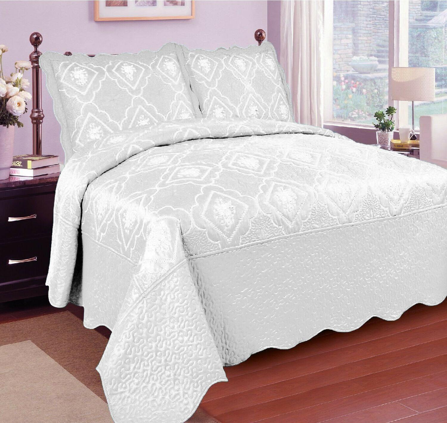 3 Quilted Bed Coverlet