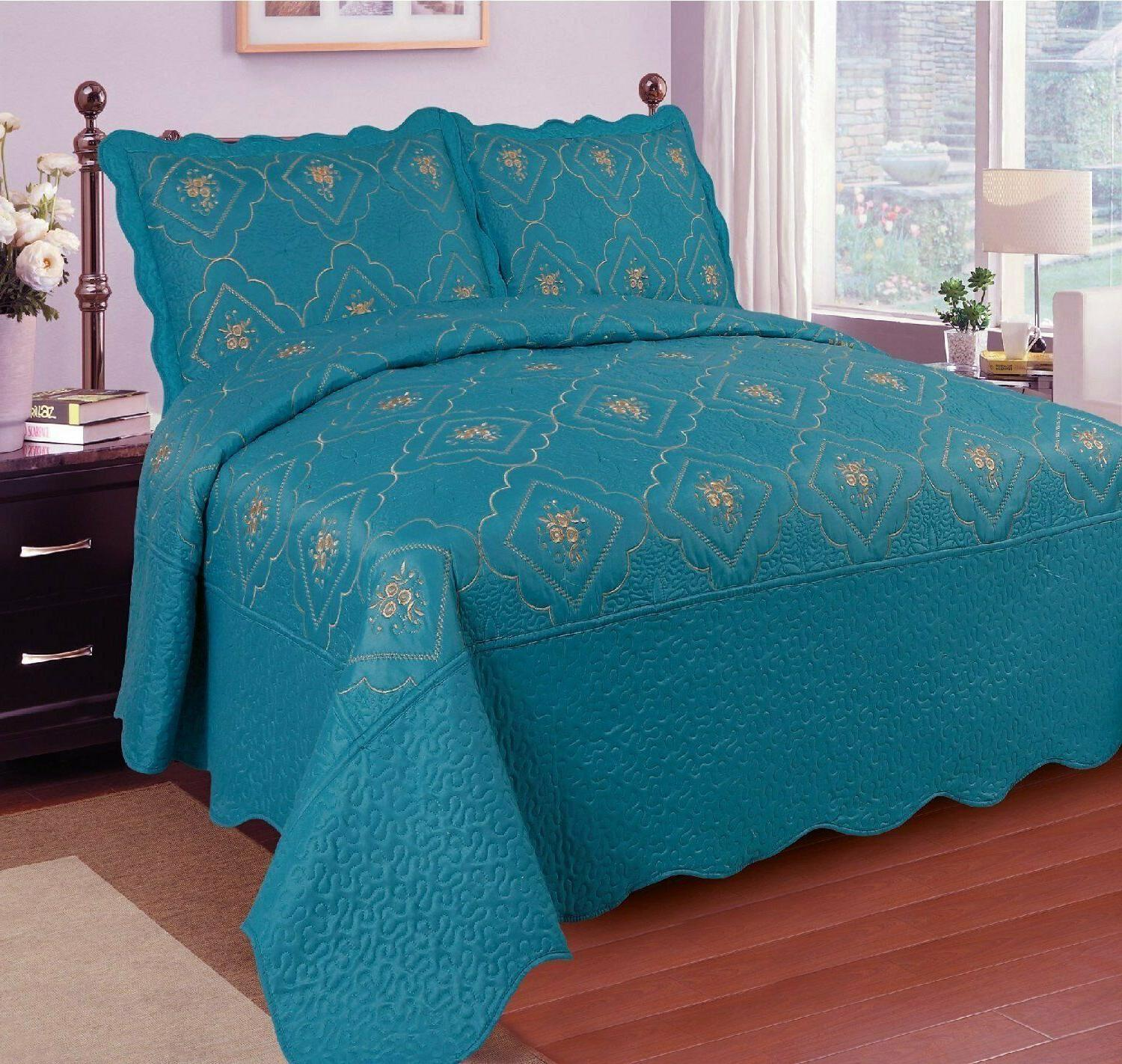 3 Polyester Quilted Bed Coverlet Quilt