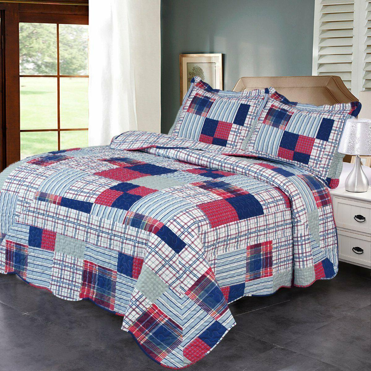 3-Piece Beach Set with Bedspread and