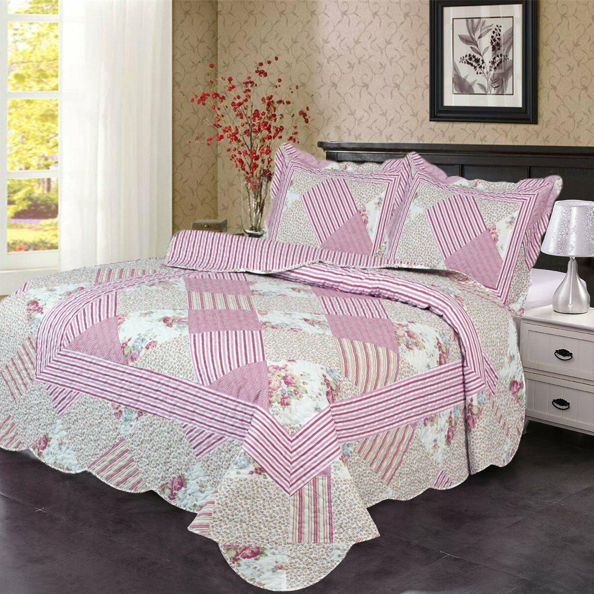 Set with Shams Bedspread Coverlet