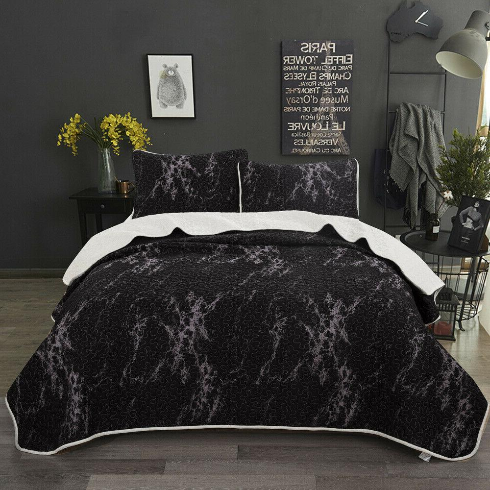 3-Piece Bedspread Coverlet Set Comforter Bedding Cover Quilt