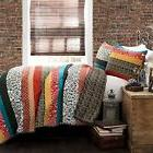 3 piece boho stripe quilt set king
