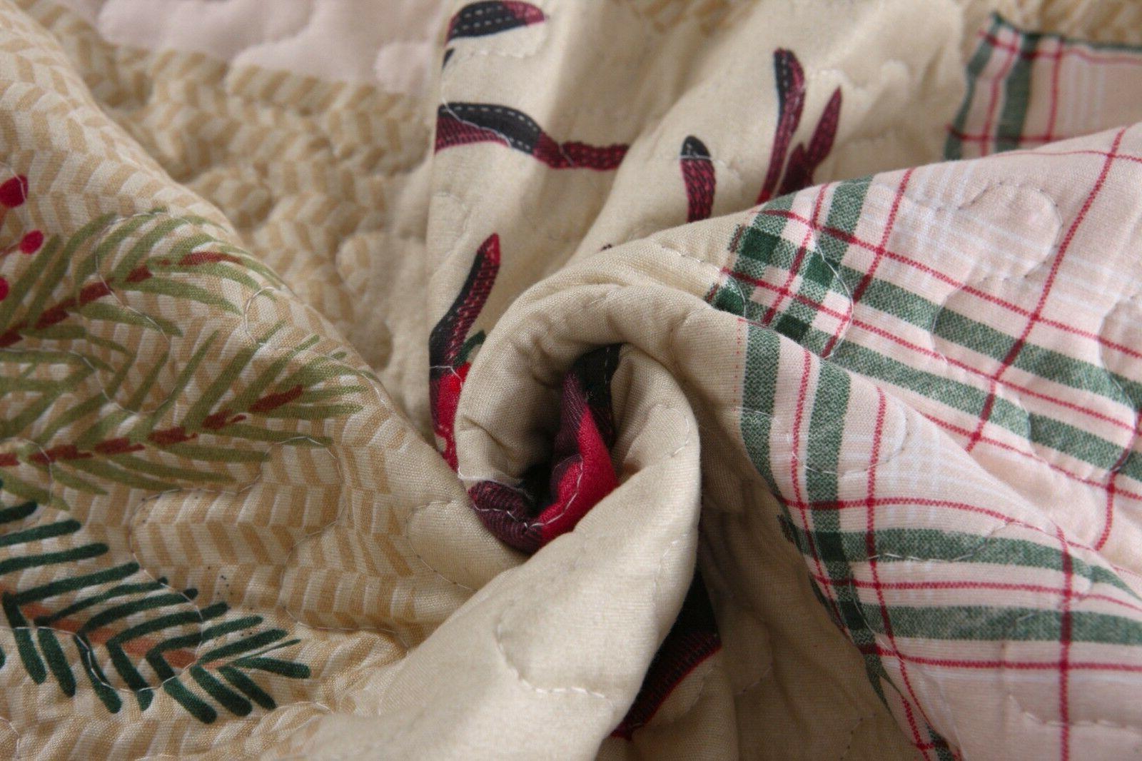 3 Piece Quilt Rustic Bedspread Quilt Set Man