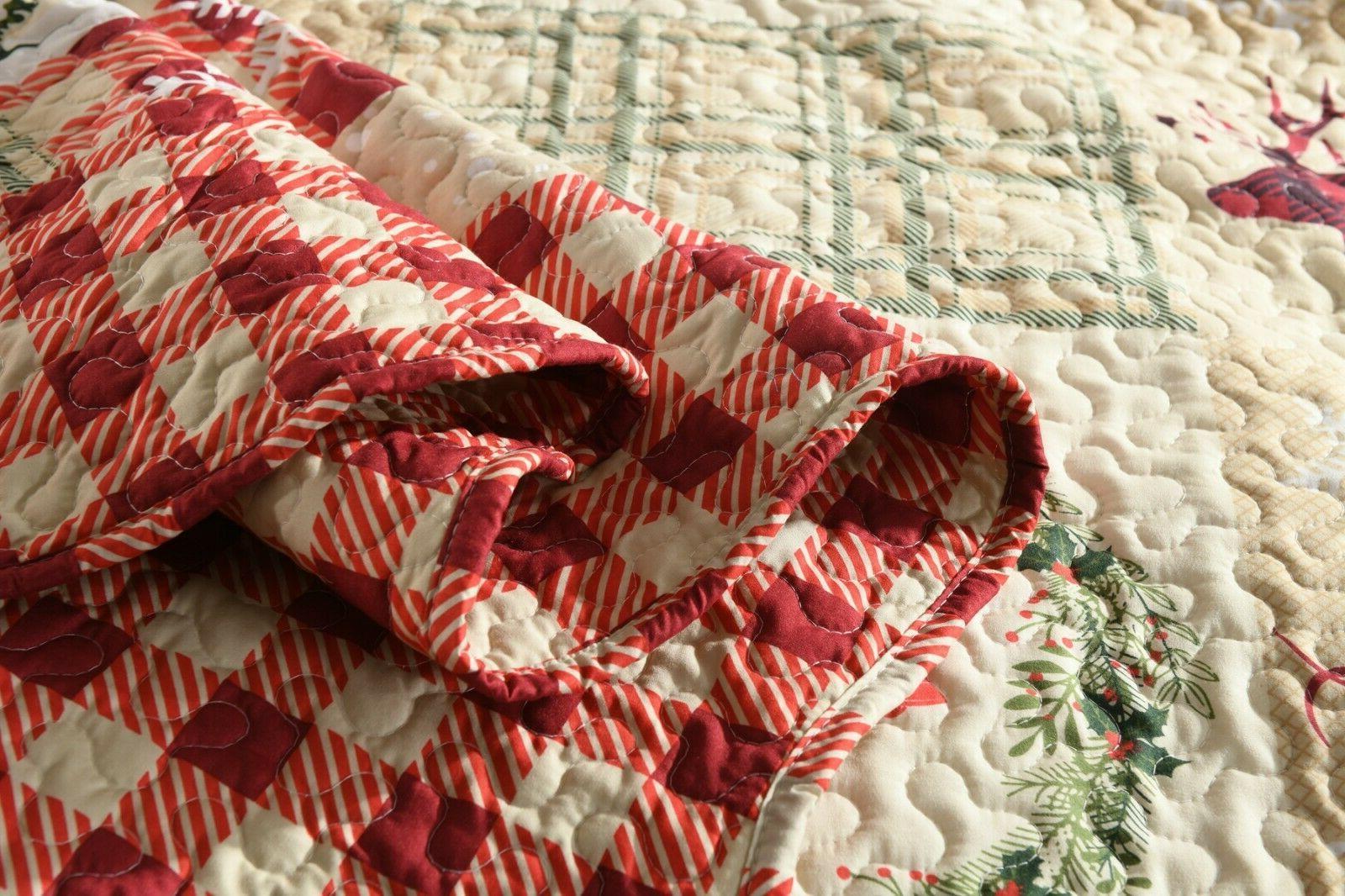 3 Piece Rustic Western Bedspread Quilt Set Man