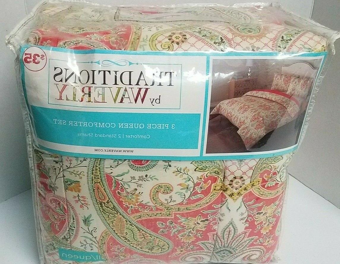 3 piece comforter set queen lyrical radish