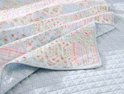 Blue Floral Cotton Set - Shabby Set
