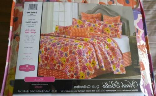 3 piece full queen quilt set
