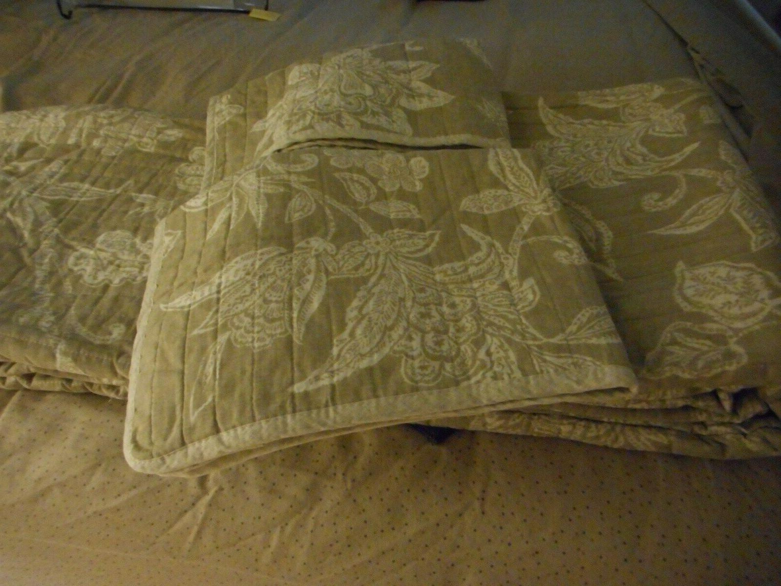 Tommy Bahama 3-Piece Full/Queen Quilt Sham Set NEW