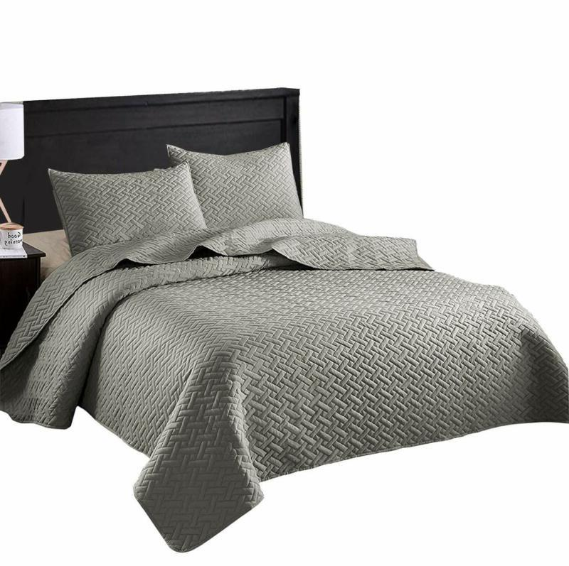 Exclusivo Mezcla 3- King Size Quilt Set With Pillow Shams, A