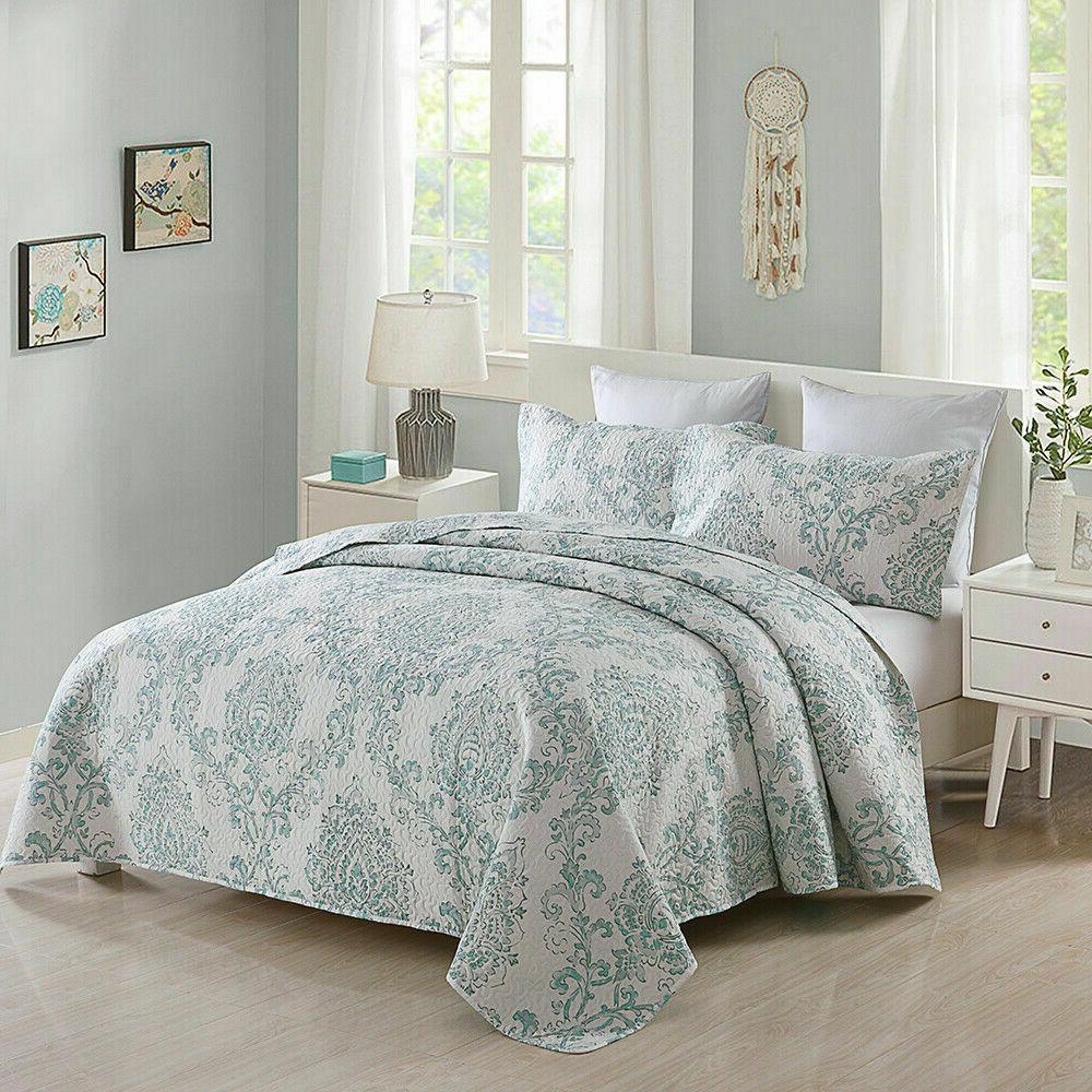 3-Piece Quilt Spring Reversible Bedding Set