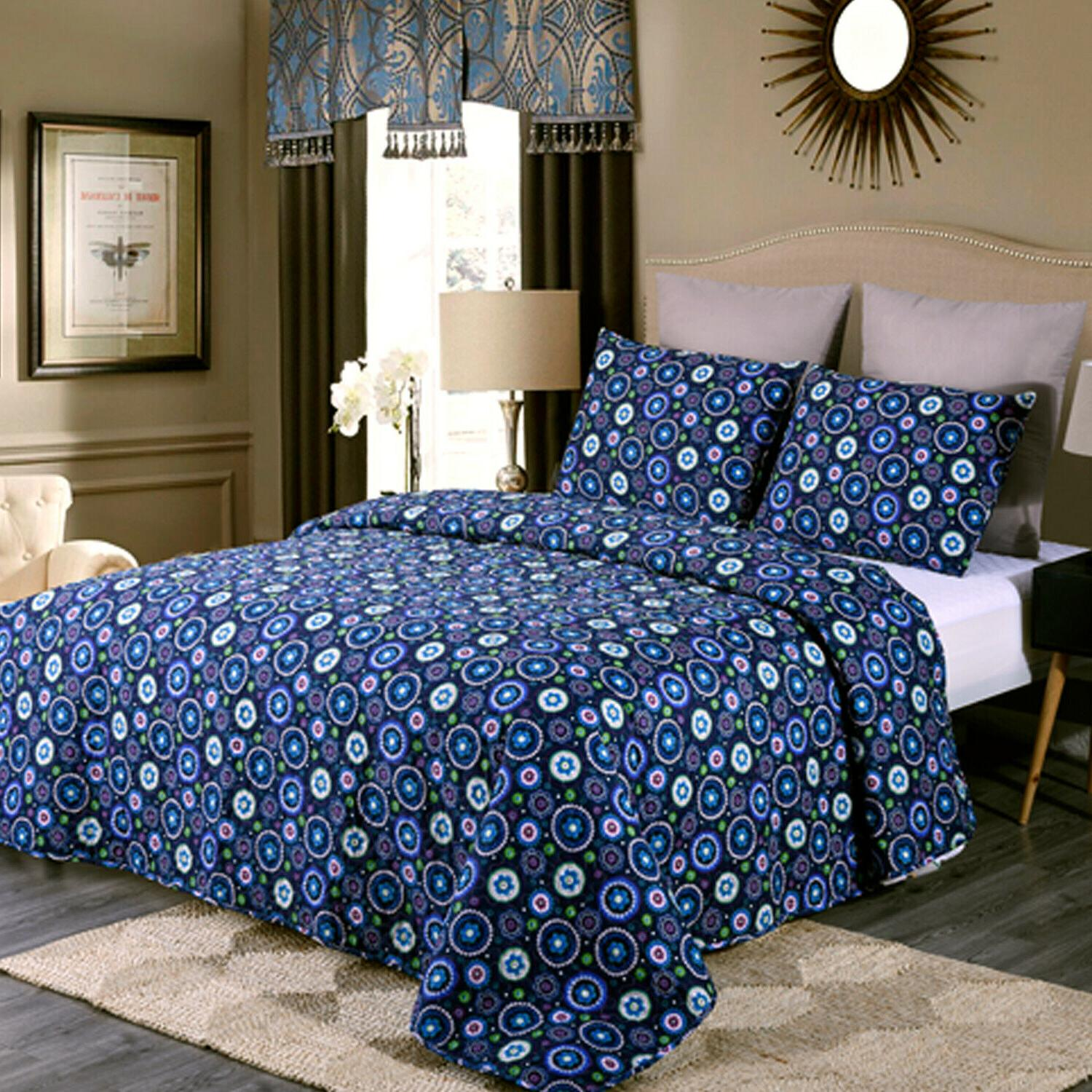 Chinese Rose Quilt King Queen 3 Floral Reversible