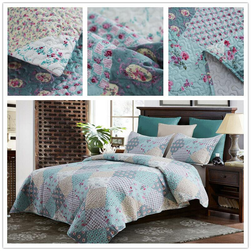 Chinese Rose Quilt King Queen Floral Farmhouse