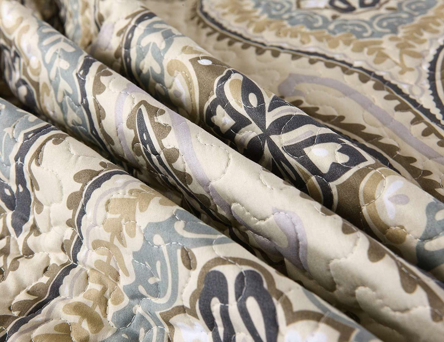 3 Quilt King Printed Quilt Bedding