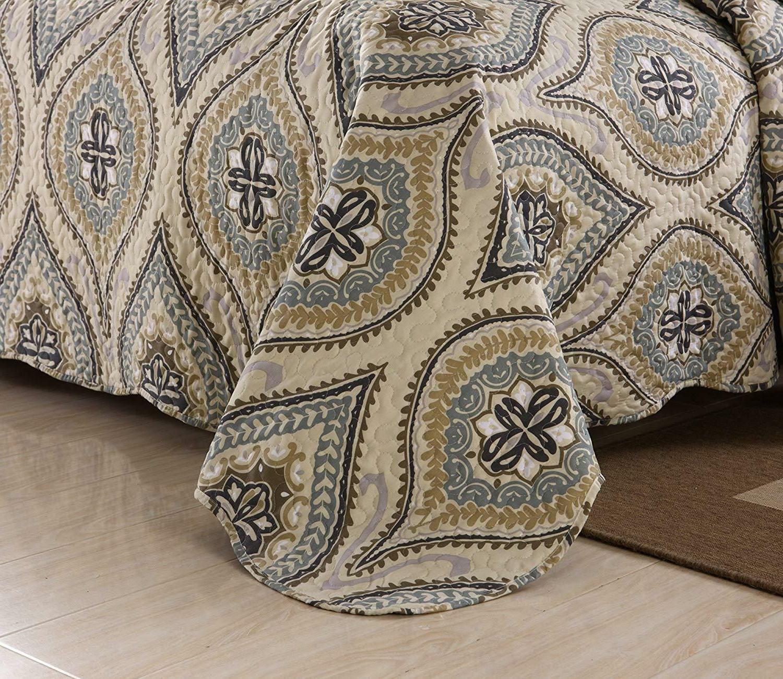 3 Piece Quilt King Bedding Oversize