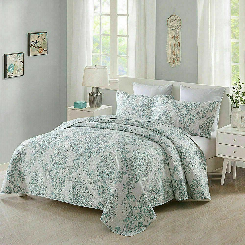 3 Set Floral Print Coverlet