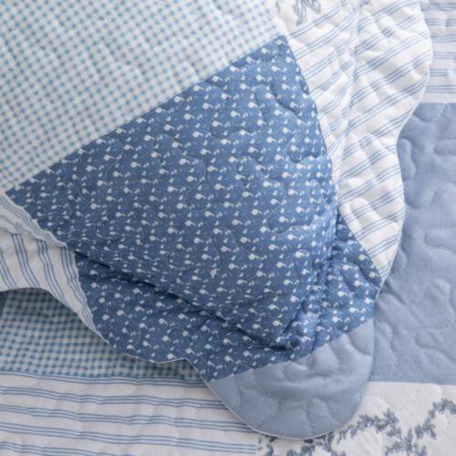 Bedsure 3-Piece Blue Floral