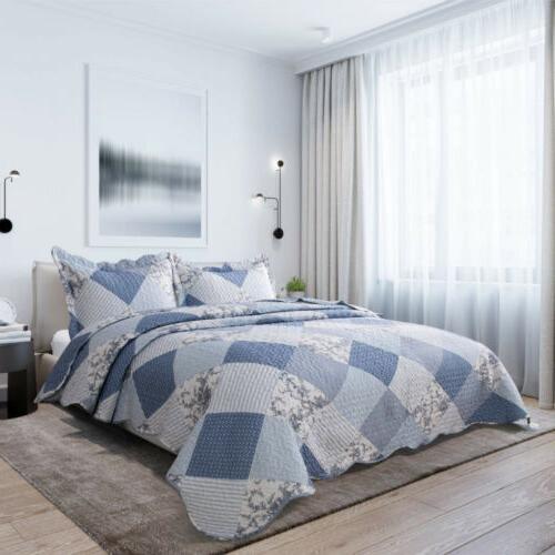 Bedsure 3-Piece Set King Blue