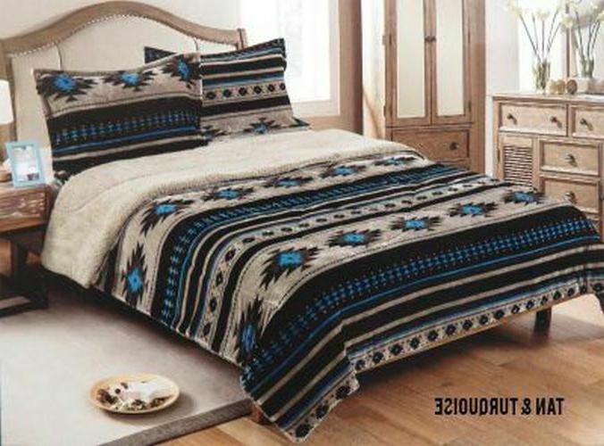 3 piece king size comforter set southwest
