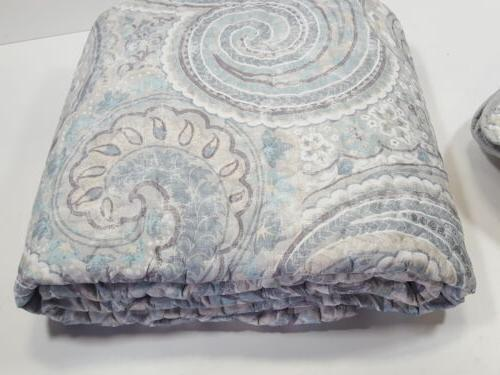Comfort 3 Quilt Coverlet Full/Queen, Grey