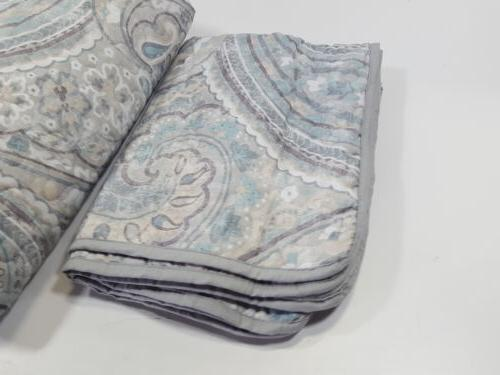 Comfort Spaces Quilt Coverlet Bedding Full/Queen, Blue