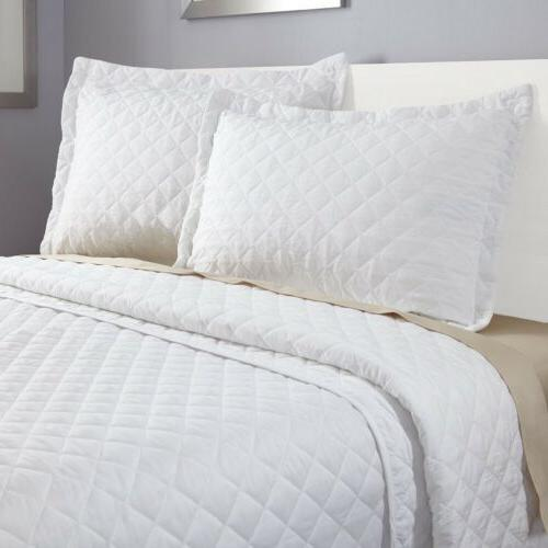 3 piece quilt set bedspread coverlet by