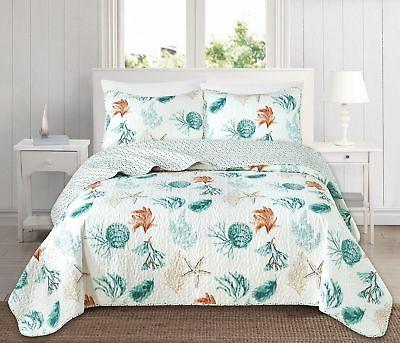 Great Bay Home 3 Piece Quilt Set with Shams. Soft All-Season