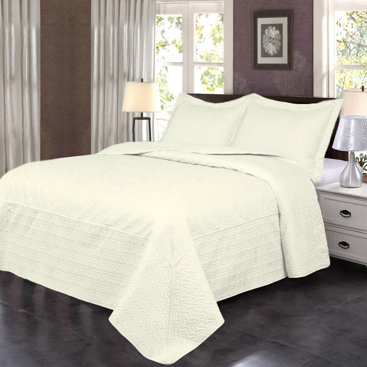 3 Solid Quilt Set & Lightweight Bedspread