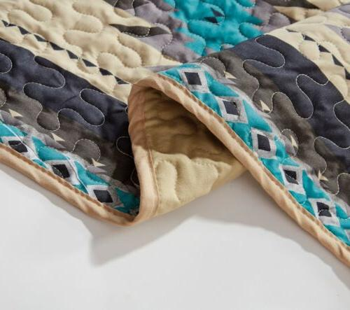 Chezmoi Collection Tribal Multi-color Quilt Bedspread Set